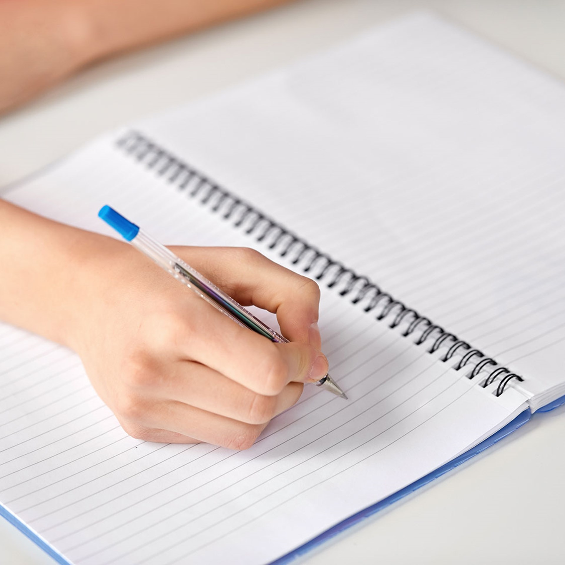 36468808 Hands Of Student Girl With Pen Writing To Notebook